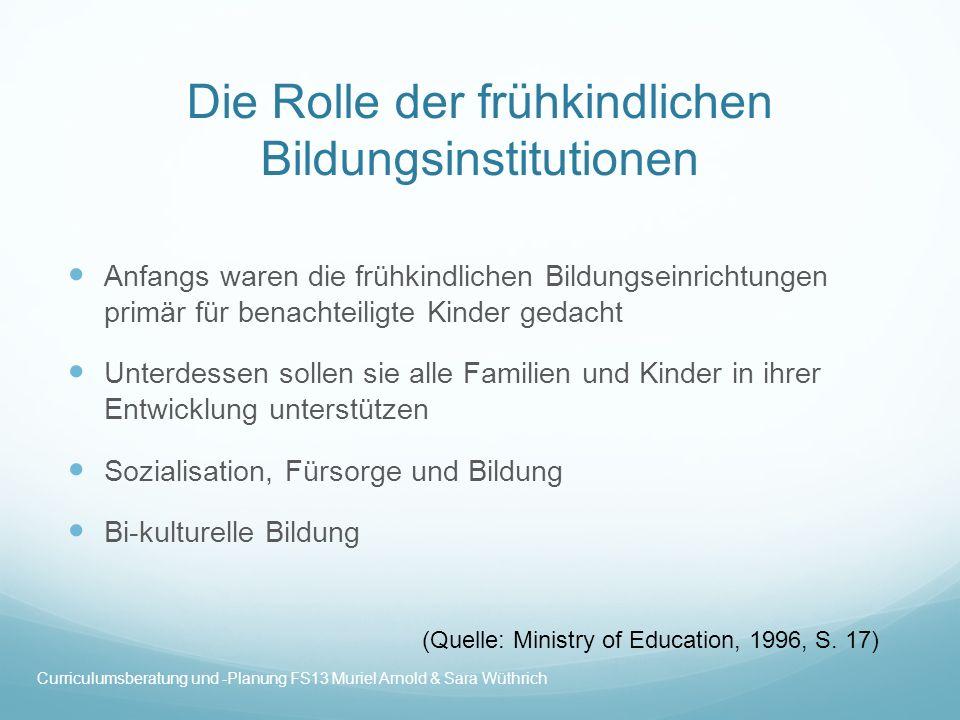 Die Rolle der frühkindlichen Bildungsinstitutionen