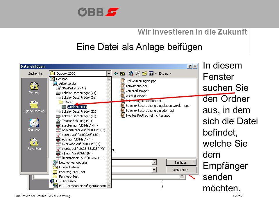 Eine Datei als Anlage beifügen