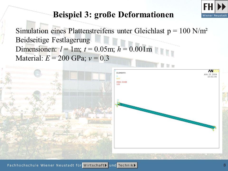 Beispiel 3: große Deformationen