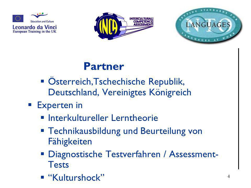 Partner Österreich,Tschechische Republik, Deutschland, Vereinigtes Königreich. Experten in. Interkultureller Lerntheorie.