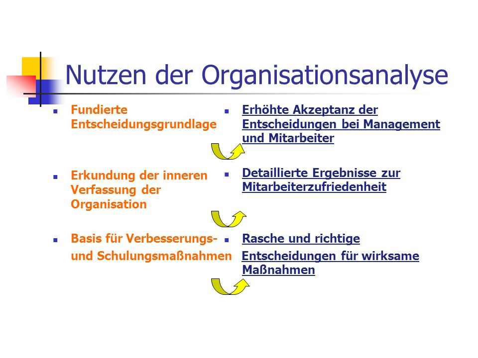 Nutzen der Organisationsanalyse