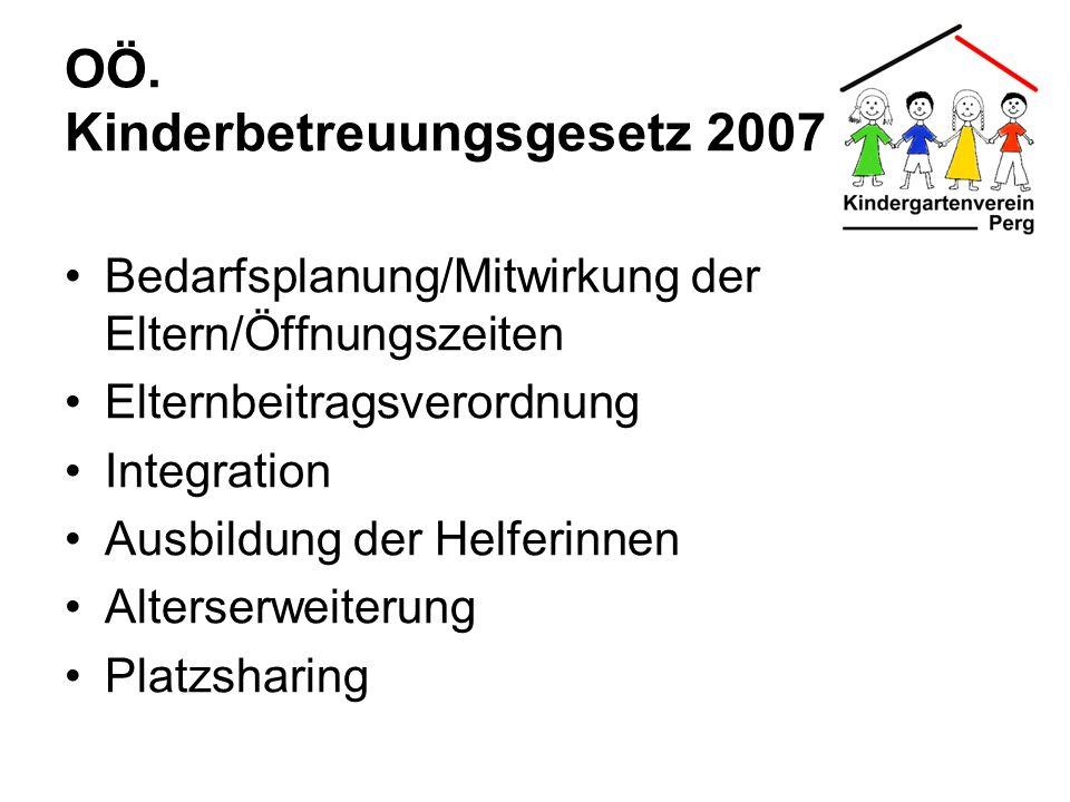 OÖ. Kinderbetreuungsgesetz 2007