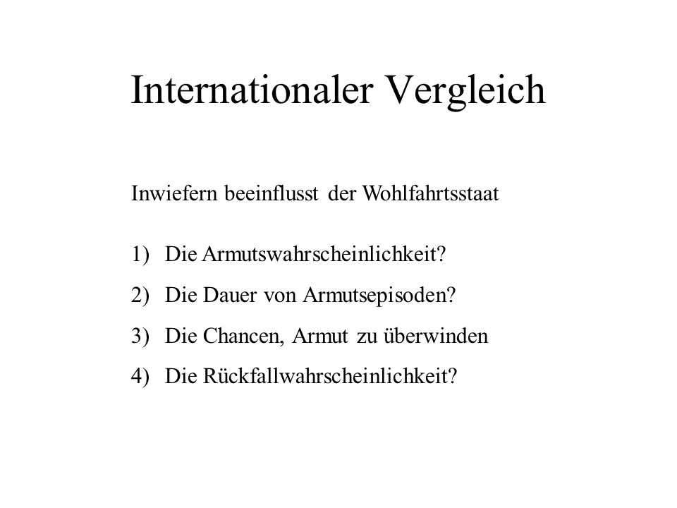 Internationaler Vergleich