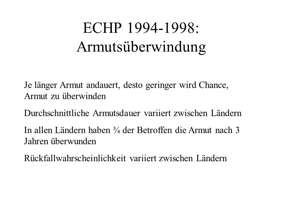 ECHP 1994-1998: Armutsüberwindung