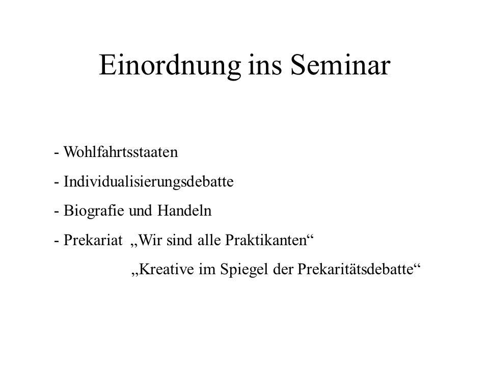 Einordnung ins Seminar