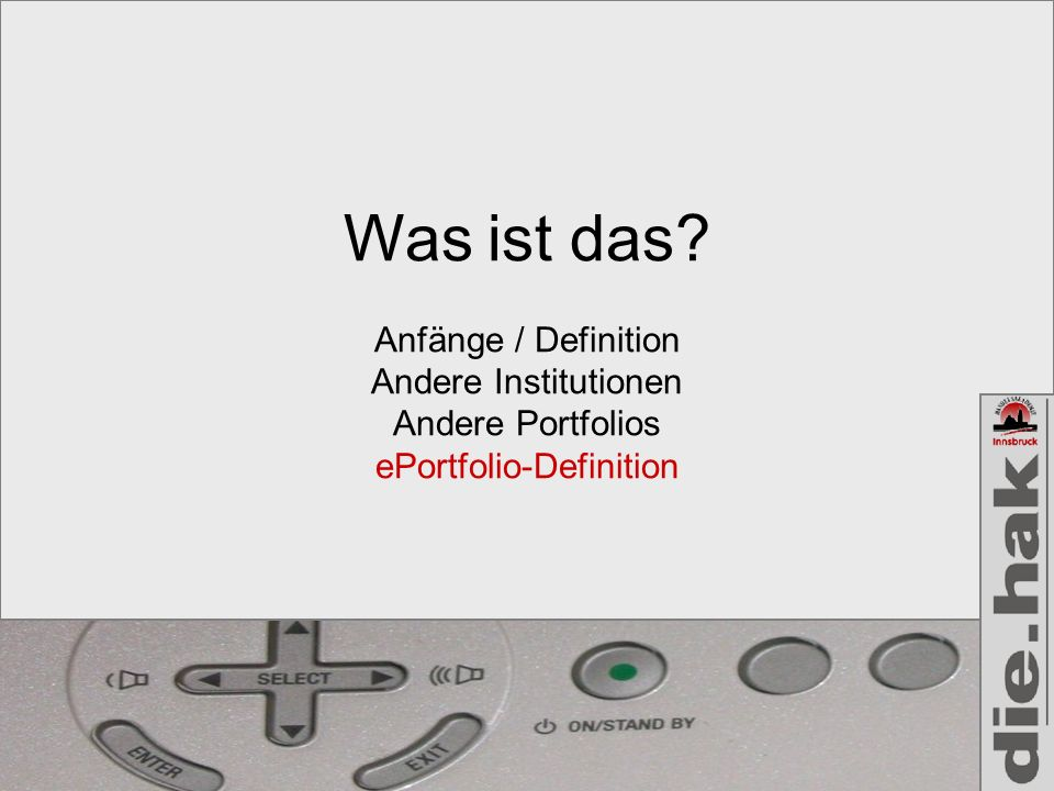 ePortfolio-Definition