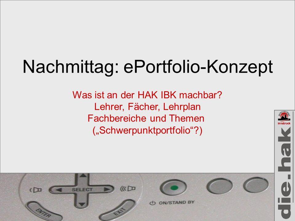 Nachmittag: ePortfolio-Konzept
