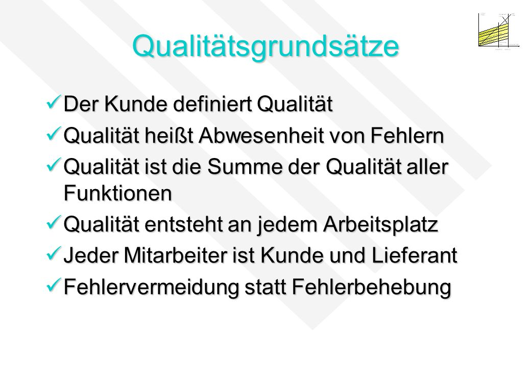 Qualitätsgrundsätze Der Kunde definiert Qualität
