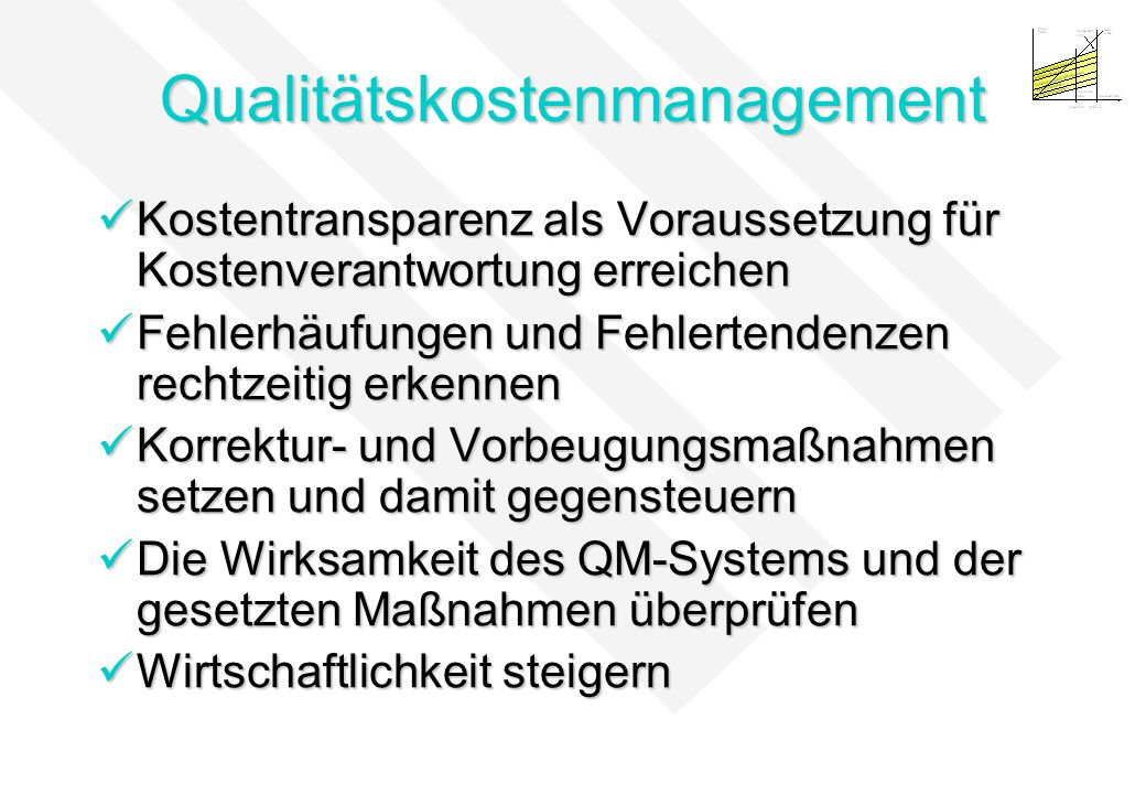 Qualitätskostenmanagement