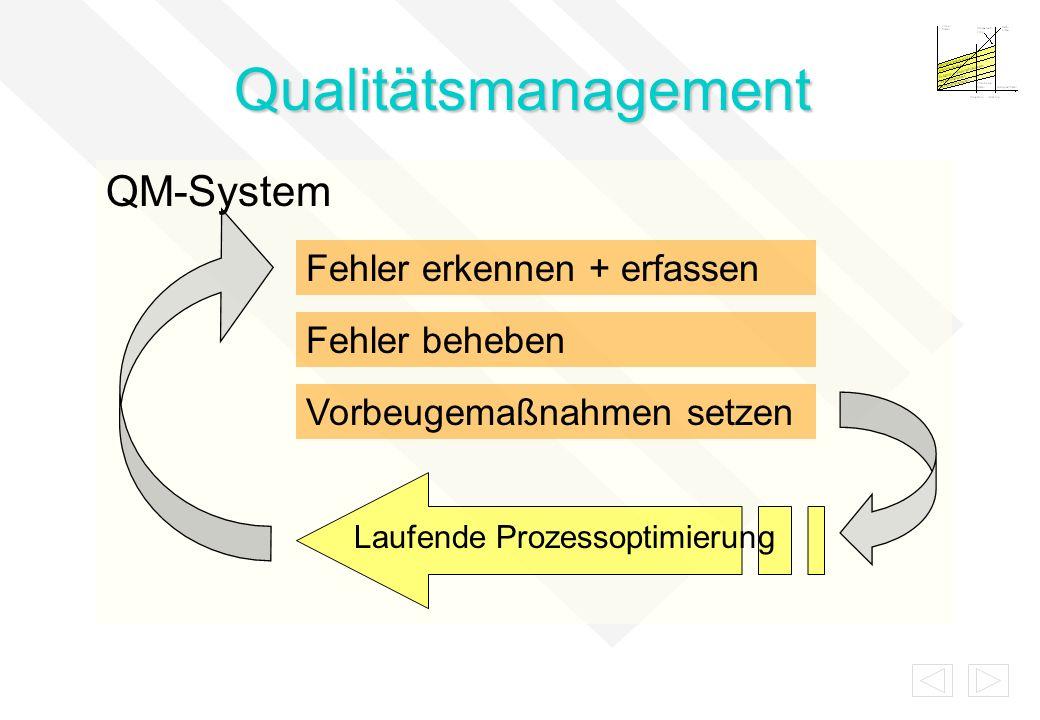 Qualitätsmanagement QM-System Fehler erkennen + erfassen