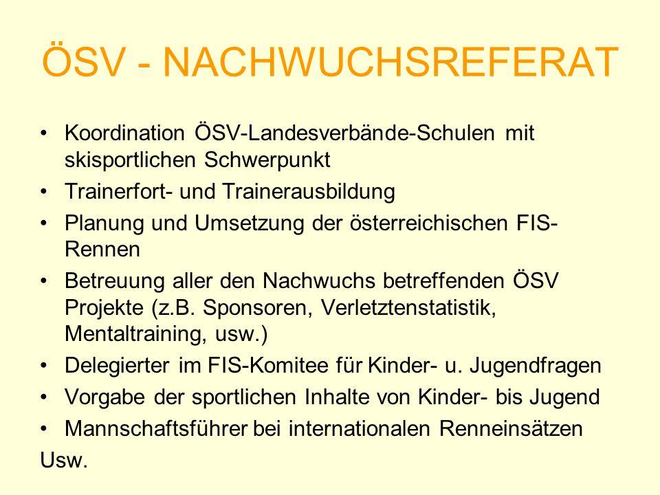 ÖSV - NACHWUCHSREFERAT