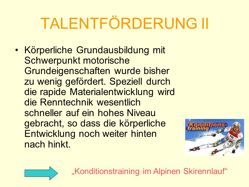 TALENTFÖRDERUNG II