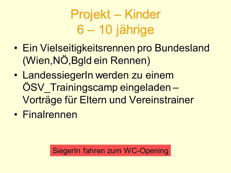 Projekt – Kinder 6 – 10 jährige