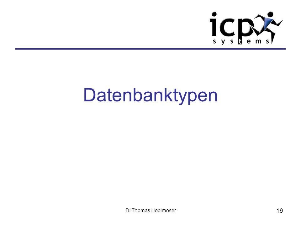 Datenbanktypen DI Thomas Hödlmoser