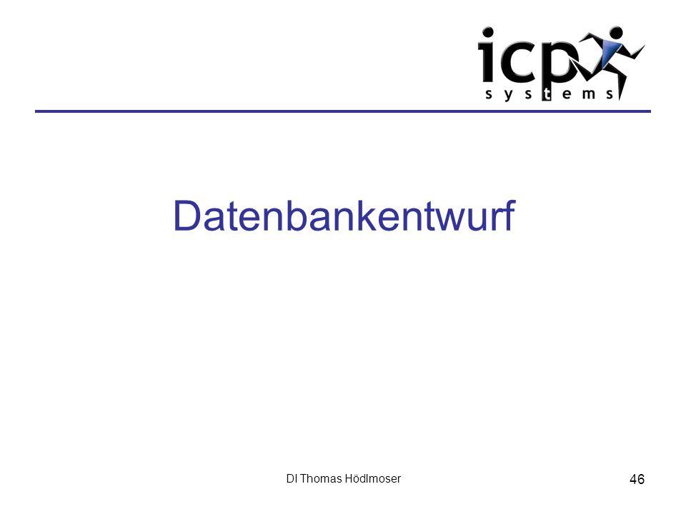 Datenbankentwurf DI Thomas Hödlmoser