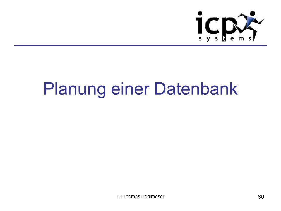Planung einer Datenbank