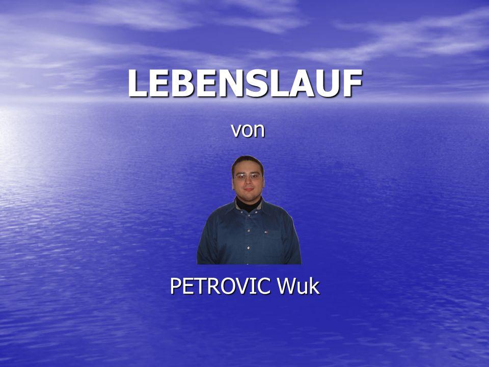 LEBENSLAUF von PETROVIC Wuk