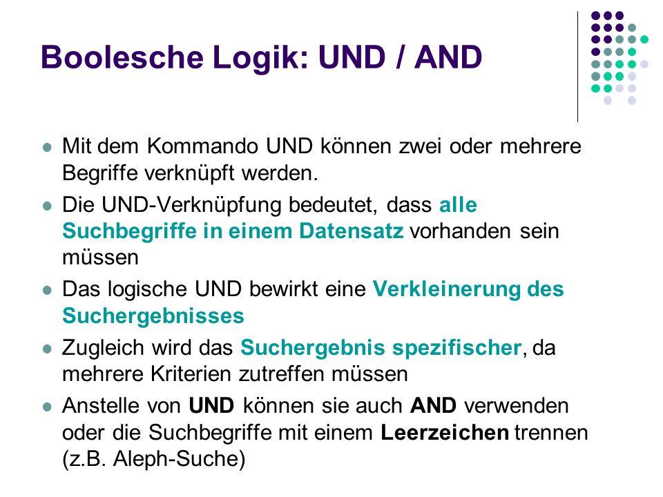Boolesche Logik: UND / AND