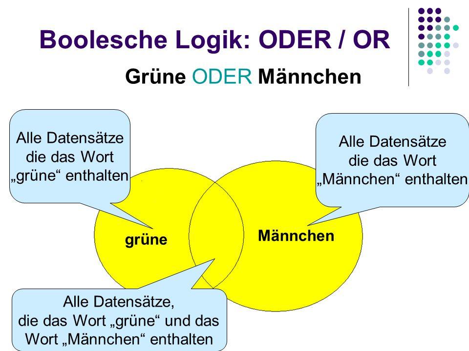 Boolesche Logik: ODER / OR