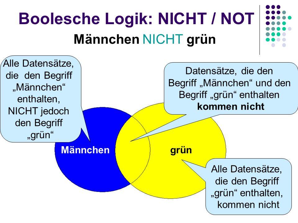 Boolesche Logik: NICHT / NOT