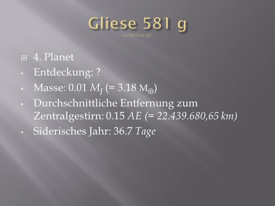 Gliese 581 g (unbestätigt)