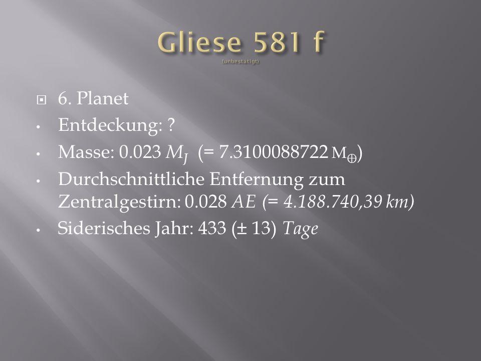 Gliese 581 f (unbestätigt)