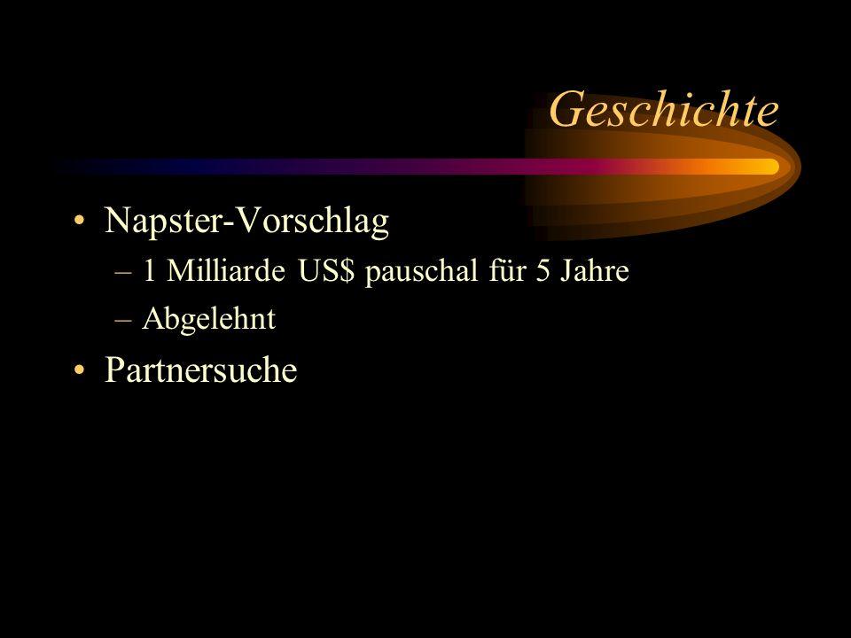 Geschichte Napster-Vorschlag Partnersuche