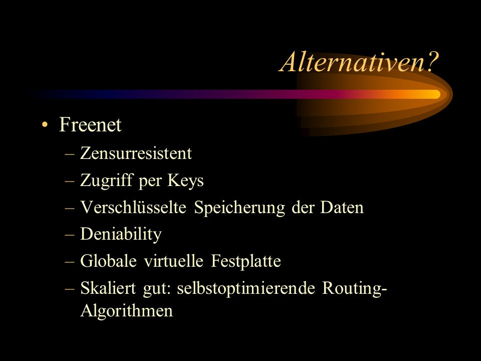 Alternativen Freenet Zensurresistent Zugriff per Keys