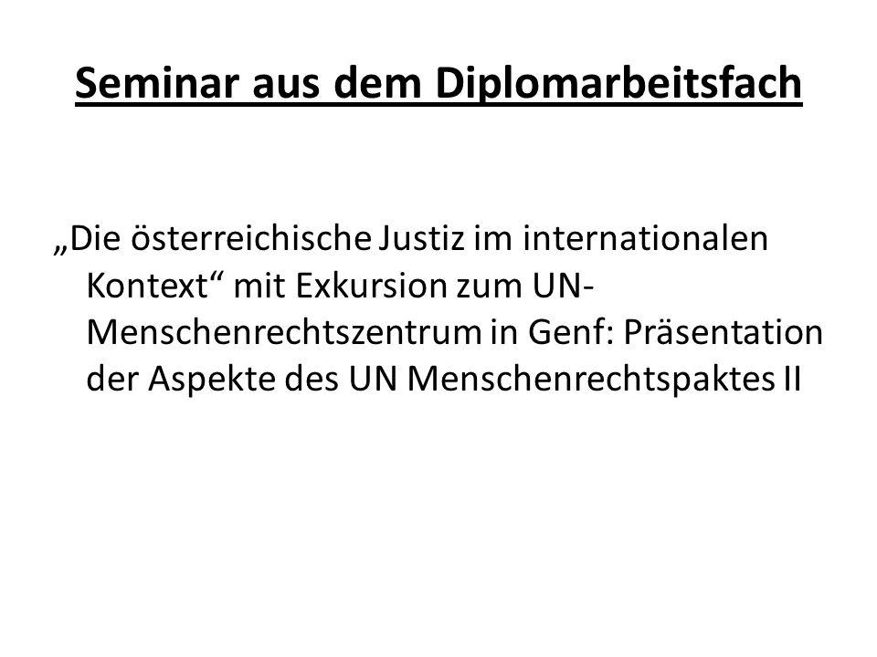 Seminar aus dem Diplomarbeitsfach