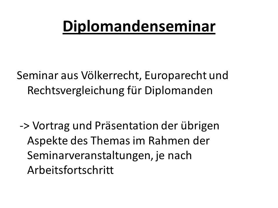 Diplomandenseminar