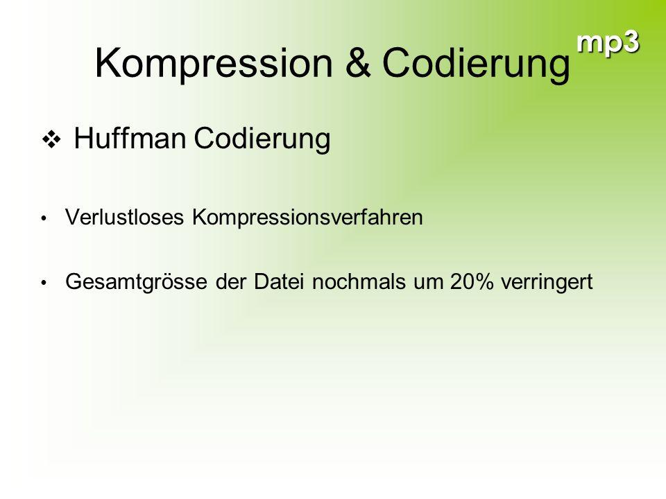 Kompression & Codierung