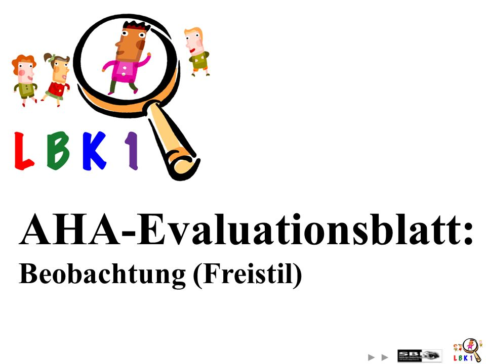 AHA-Evaluationsblatt: