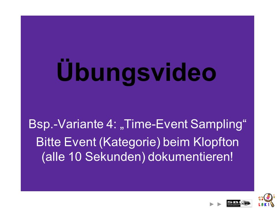 "Bsp.-Variante 4: ""Time-Event Sampling"