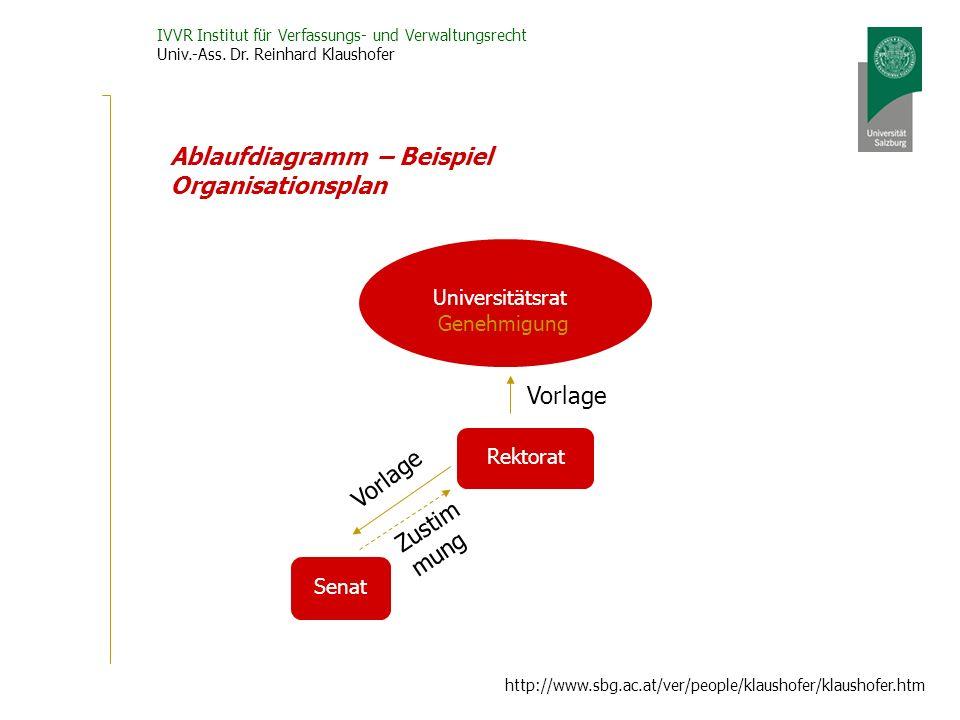 Ablaufdiagramm – Beispiel Organisationsplan