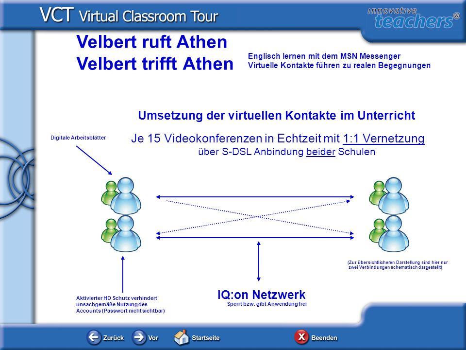 IQ:on Netzwerk Velbert ruft Athen Velbert trifft Athen