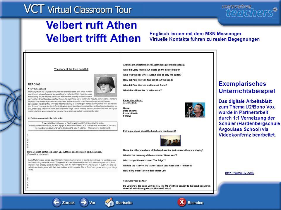 Velbert ruft Athen Velbert trifft Athen Exemplarisches