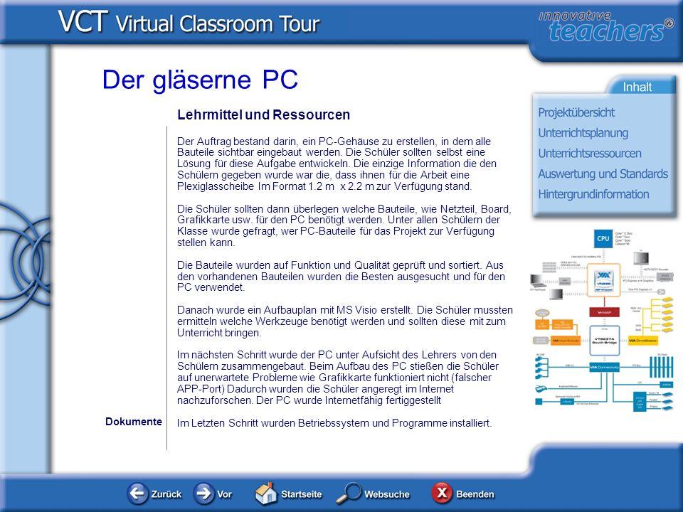 Der gläserne PC Lehrmittel und Ressourcen