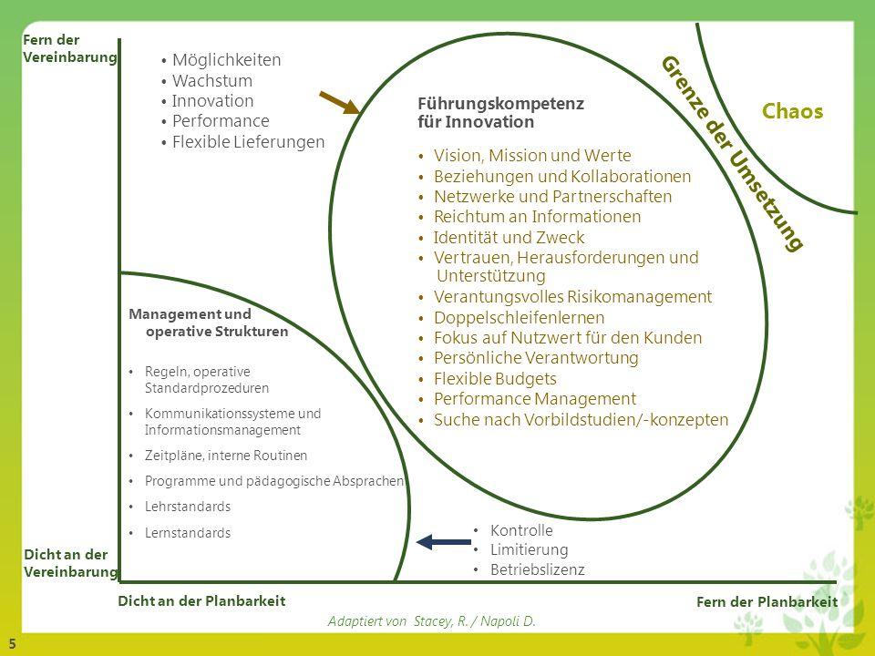 Chaos Grenze der Umsetzung Möglichkeiten Wachstum Innovation