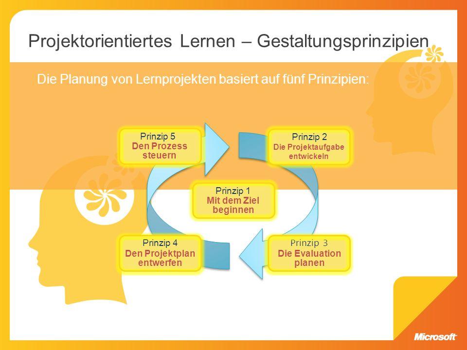 Projektorientiertes Lernen – Gestaltungsprinzipien