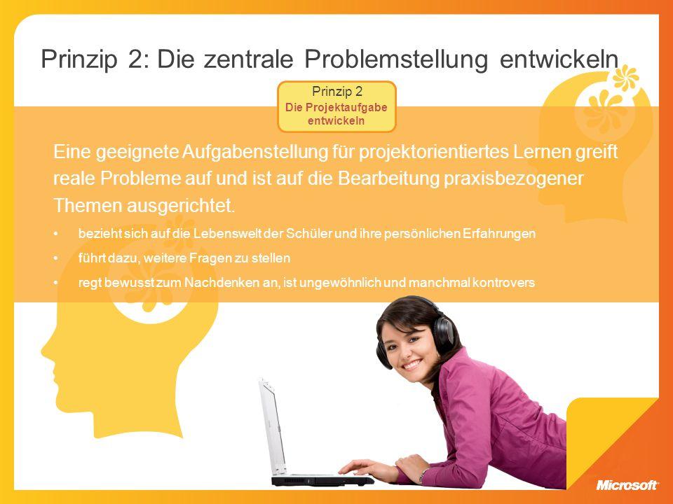 Prinzip 2: Die zentrale Problemstellung entwickeln