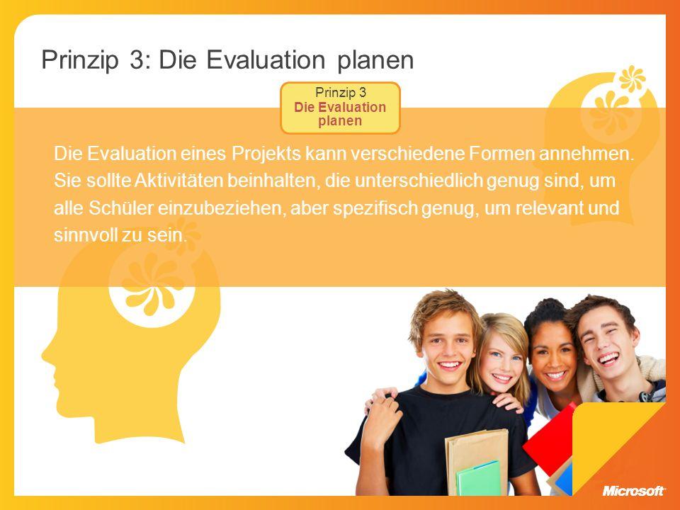 Prinzip 3: Die Evaluation planen