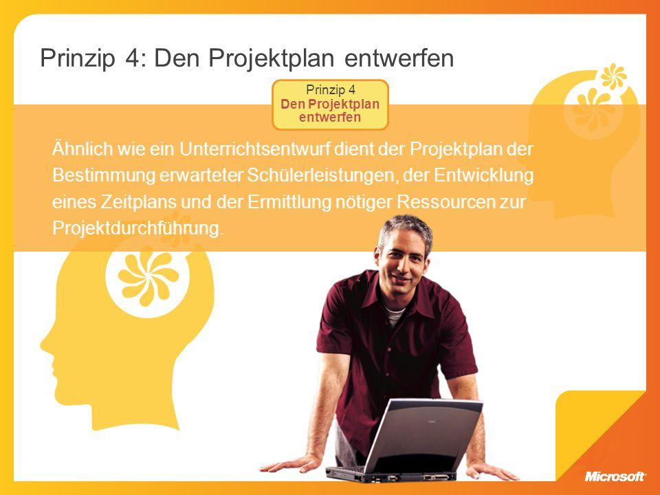 Prinzip 4: Den Projektplan entwerfen