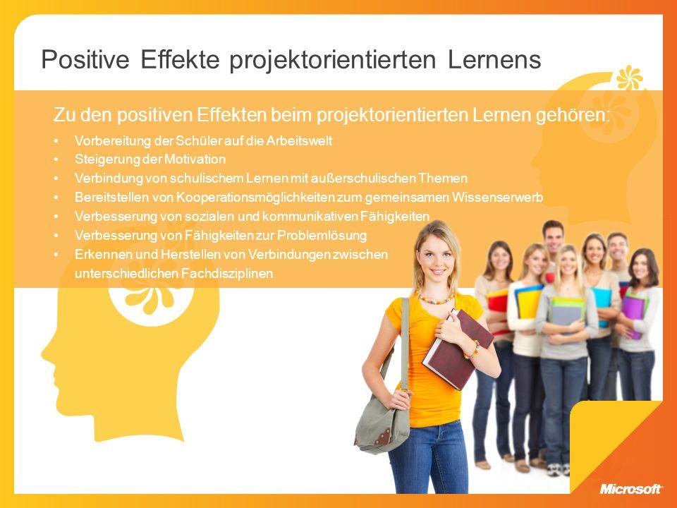 Positive Effekte projektorientierten Lernens