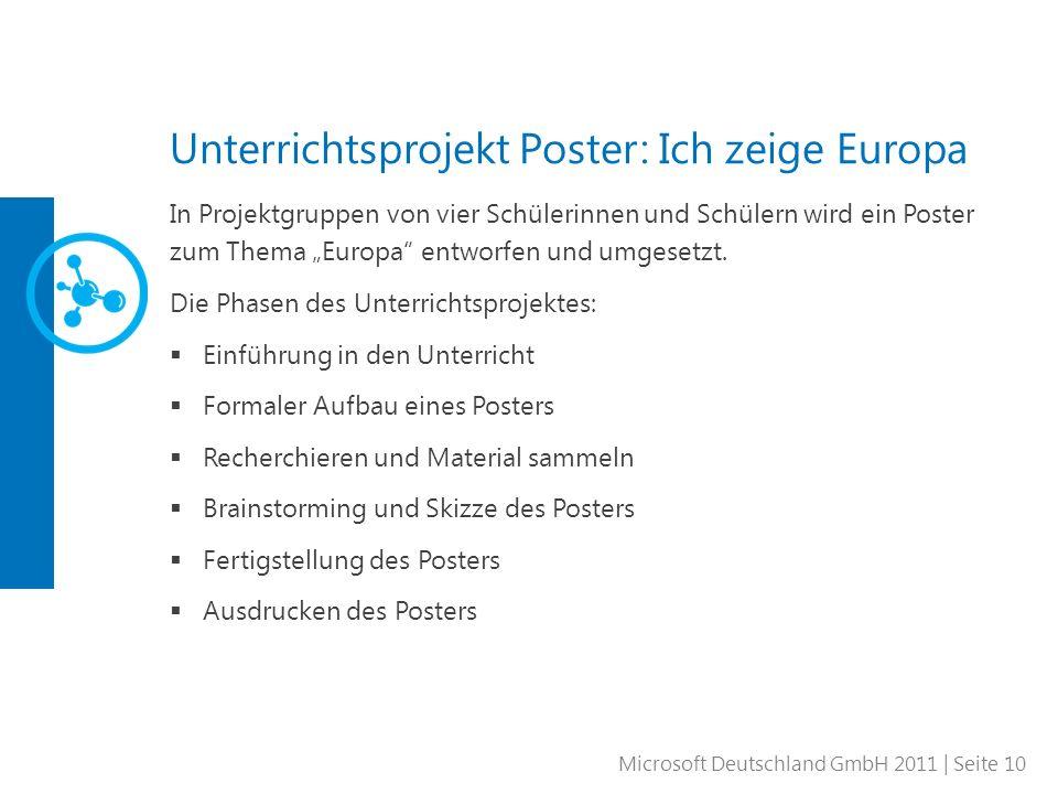 Unterrichtsprojekt Poster: Ich zeige Europa