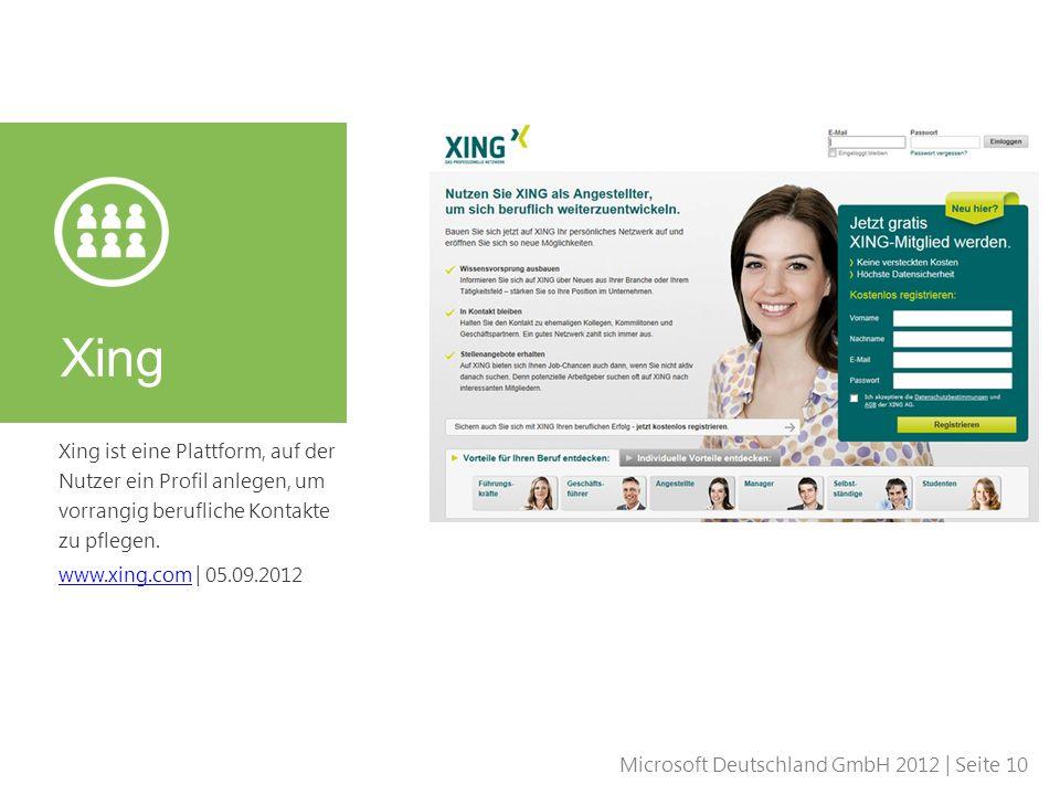 Xing Xing ist eine Plattform, auf der Nutzer ein Profil anlegen, um vorrangig berufliche Kontakte zu pflegen.