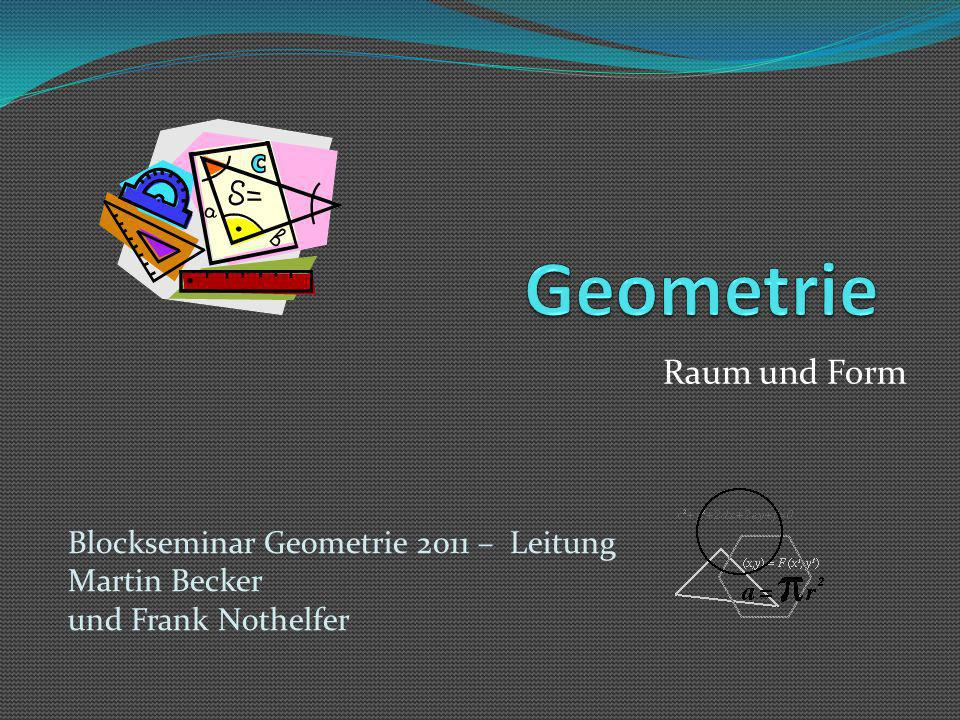Geometrie Raum und Form