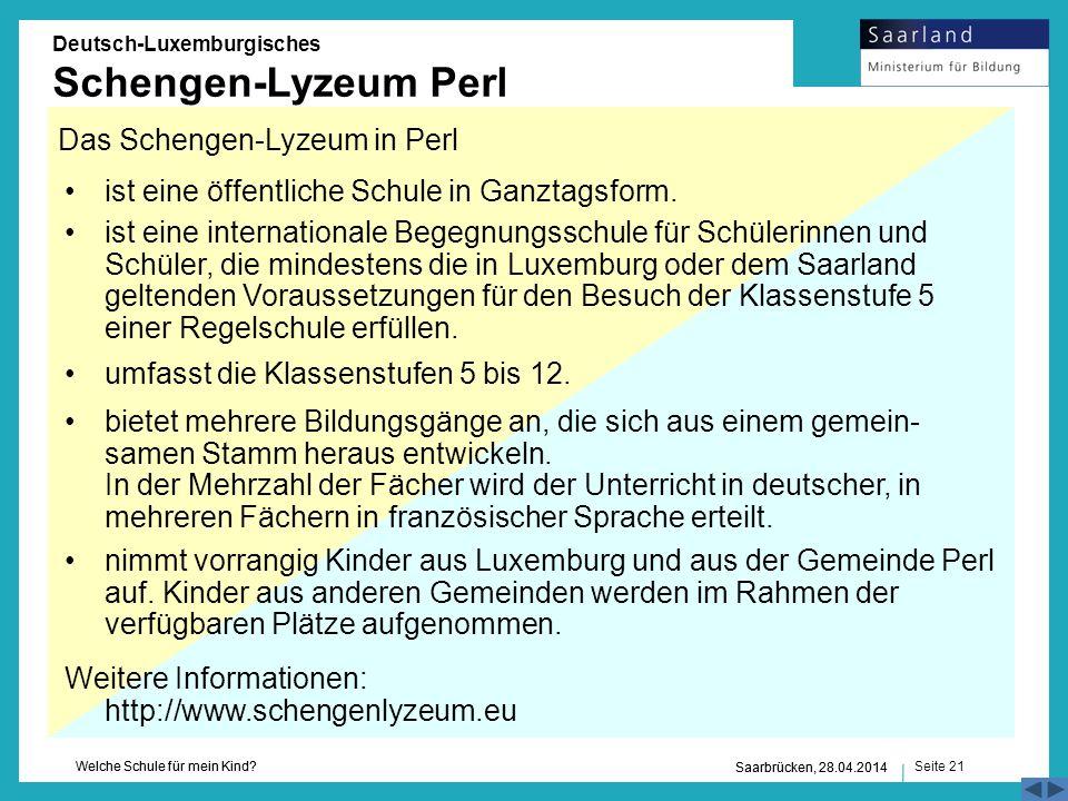 Das Schengen-Lyzeum in Perl