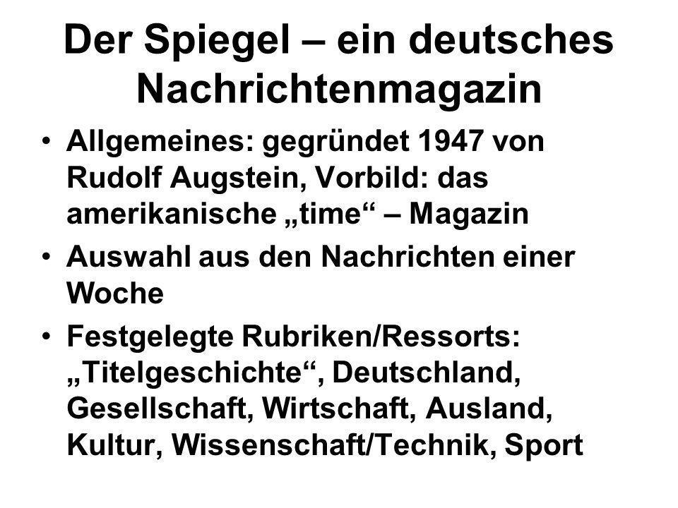 Der Spiegel – ein deutsches Nachrichtenmagazin