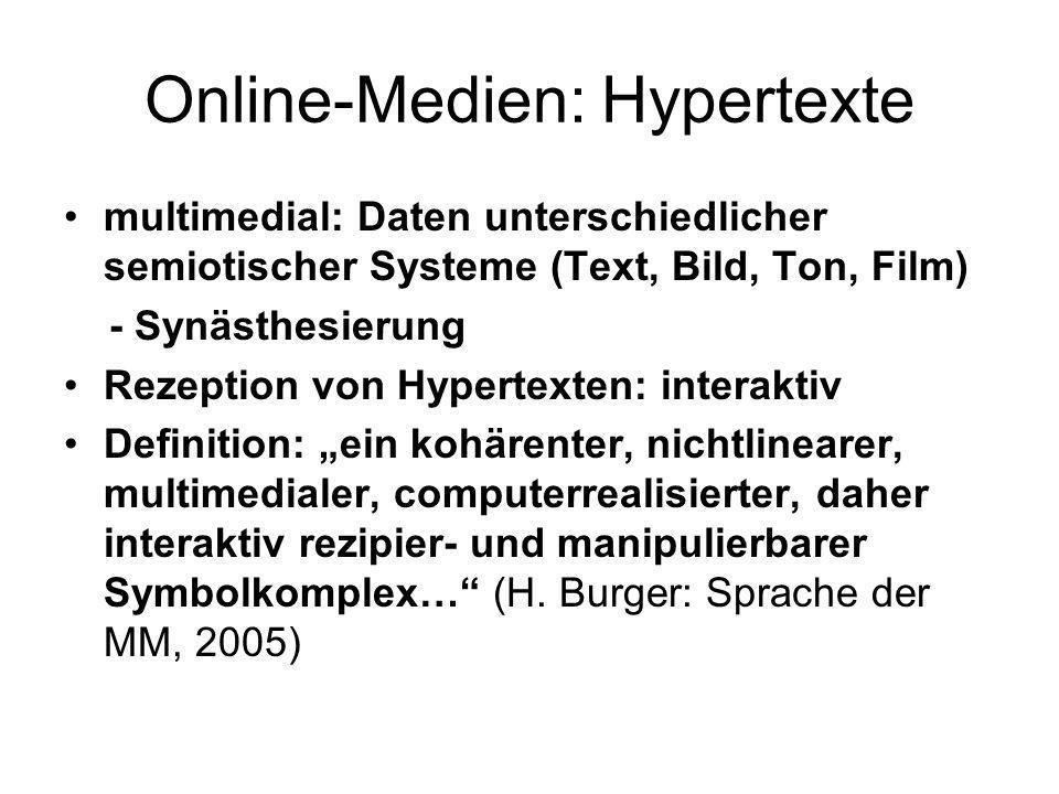 Online-Medien: Hypertexte