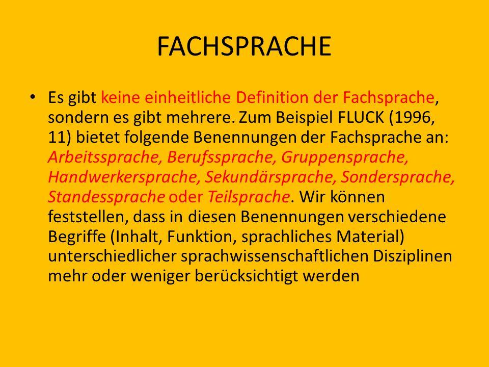 FACHSPRACHE